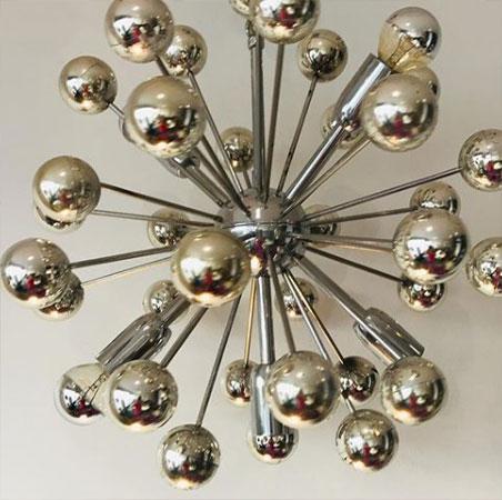 V Beau lustre sputnik 1970