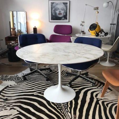Z Belle table tulipe en marbre de Calacatta Knoll