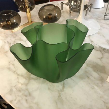 Beau vase Cartoccio par Pietro Chiesa pour Fontana Arte, Italie, 1960s