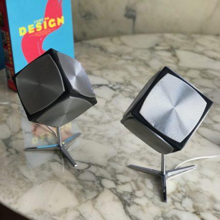 Enceintes grundig audiorama hifi 700 cubique pied tripode