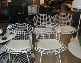 Série de 4 chaises Harry Bertoia pour Knoll circa 1980