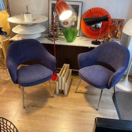 Magnifique paire de fauteuils Conférence Eero Saarinen pour KNOLL