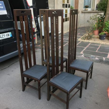 4 chaises Ingram Hight Chair design Mackintosh édition Cassina