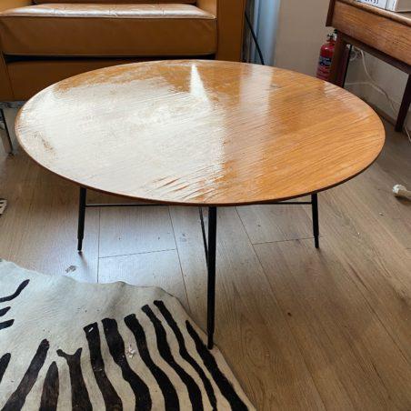 Table basse circulaire Ico Parisi pour Cassina 1950