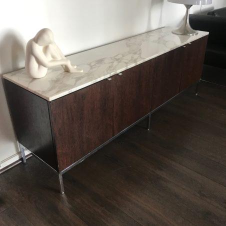 Enfilade Credenza Florence Knoll modele 4 positions marbre Calacatta