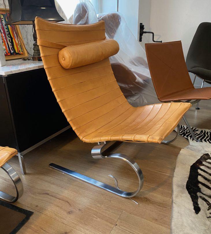 Fauteuil Lounge PK20 Poul Kkjaerholm pour Fritz Hansen